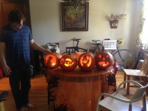 We even carved pumpkins in chicago - thanks mando & megan!